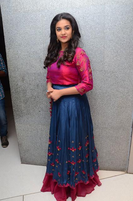 Keerthy Suresh in Skirt and Crop Top