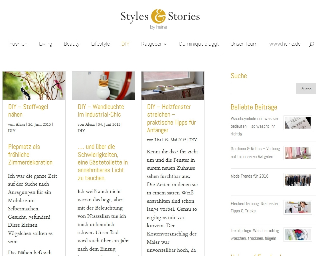 Styles & Stories by heine