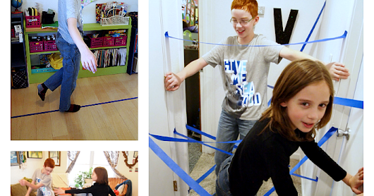 Kids Activity: Indoor Games Using Tape