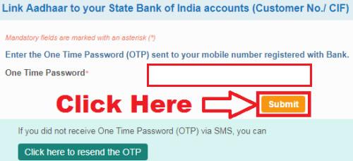 sbi bank online aadhar card link