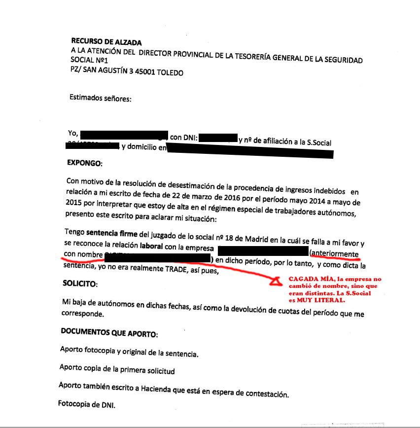 Eres falso aut nomo enhorabuena tercera informaci n for Modelo nomina autonomo