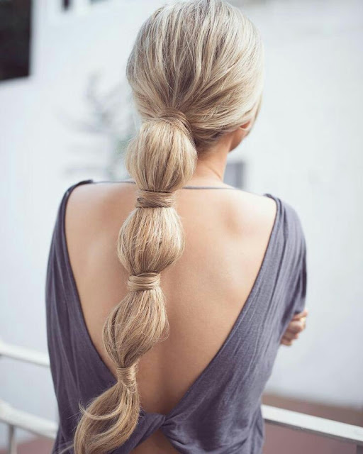 Long tail hairstyle