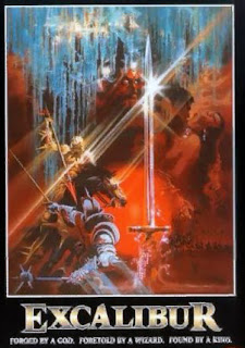 Cartel del film de J. Boorman: Excalibur (1981)