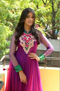 Actress Pooja Jhaveri Latest Stills in Purple Salwar Kameezt at Dwaraka Success Meet  0113.JPG