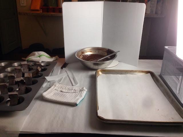 Chocolate Bow Mise en Place