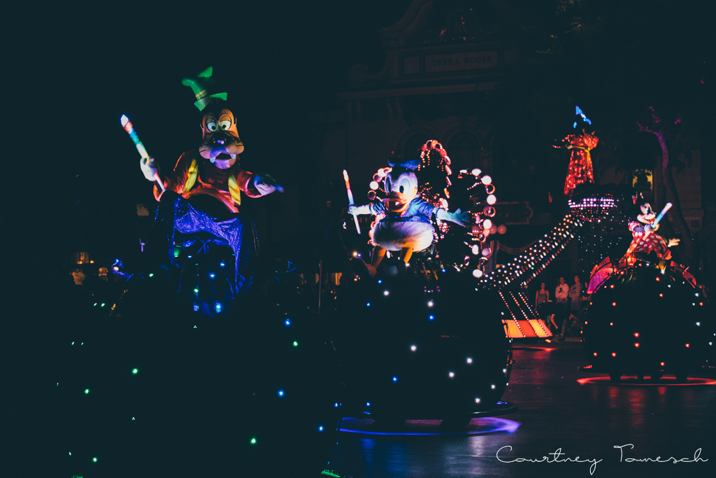 Courtney Tomesch Disneyland Paint the Night
