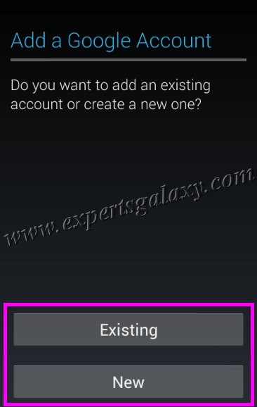 Android Add Google Account