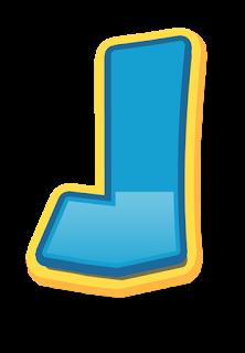 Alfabeto para Escudos de Paw Patrol para Imprimir Gratis.