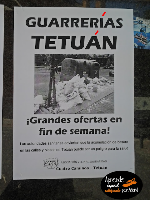 Aprende español callejeando por Madrid: No seas cochino