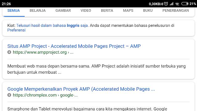 Contoh Template AMP Google untuk Blog