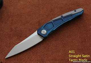Maxace PTILOPSIS titanium frame-lock flippers with M390 blade