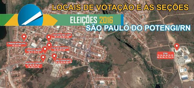 Eleições 2016: Confira os Locais de Votação em São Paulo do Potengi