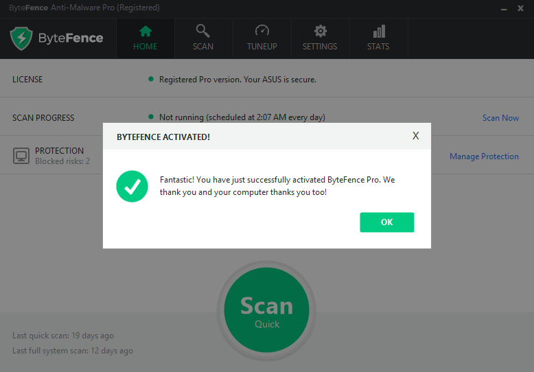Serial Number Bytefence Anti-Malware Pro+ Agustus 2018 New ...