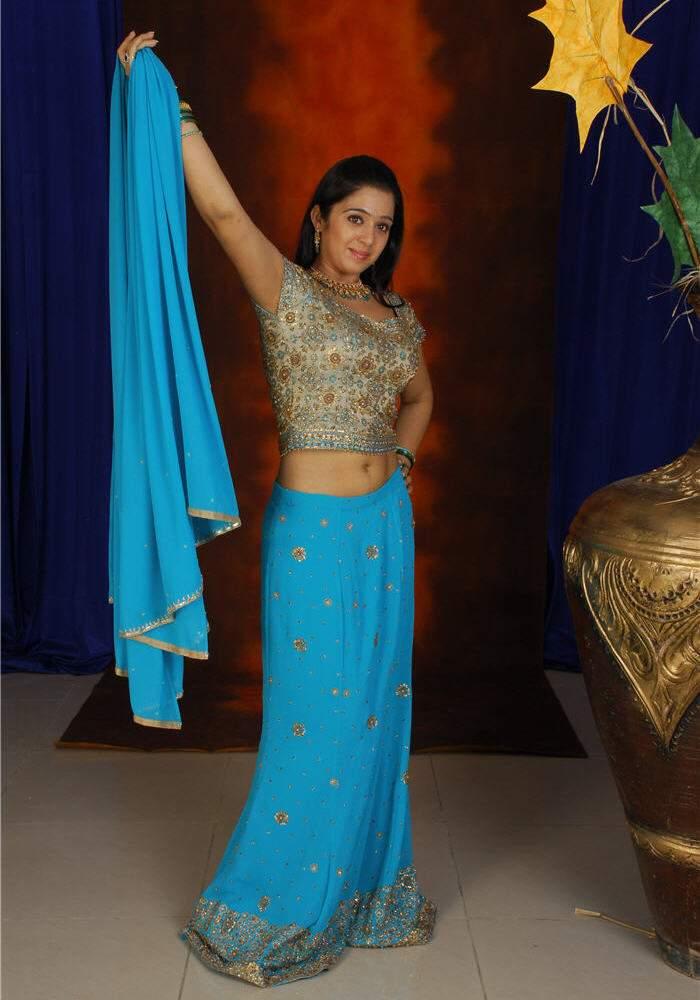 Actress Charmi Half Saree Navel Show Photos  Actress -2022