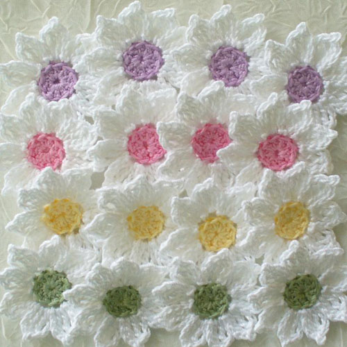 Daisy Flowers - Crochet Pattern