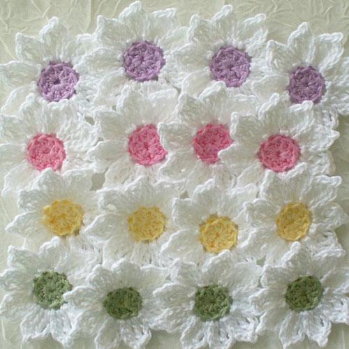 Daisy Flowers - Crochet Pattern