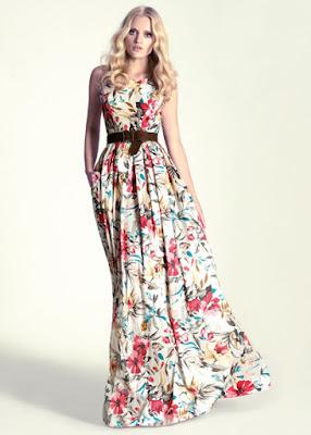vestido flores largo invitada boda