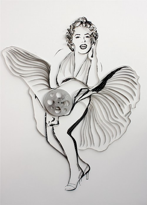 09-Marilyn-Monroe-Erika-Iris-Tape-Art-www-designstack-co