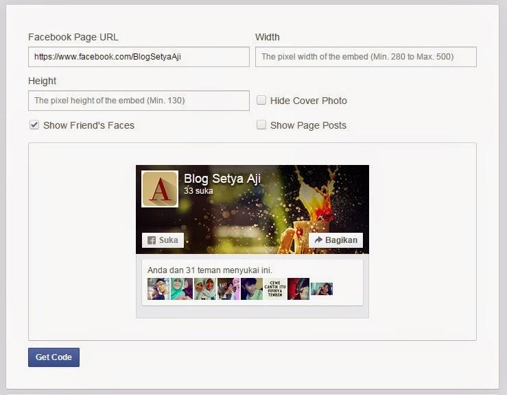 Cara Memasang Widget Facebook Fans Page Like Box Di Blog