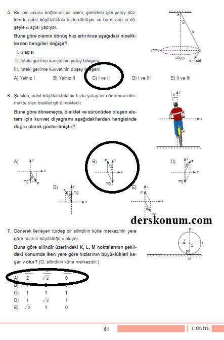 12sinif Fizik Ders Kitabi Cevaplari Tutku Yayinlari 61 Ders