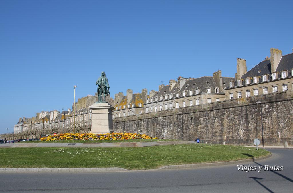 Muralla de Saint Malo, Bretaña, Francia