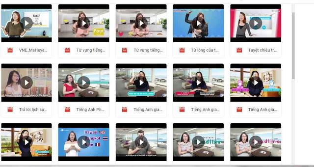 Chia sẻ  Kho video tự học tiếng Anh giao tiếp độc quyền Ms Hoa