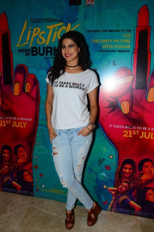 "Plabita Borthakur During Trailer Launch of Film ""Lipstick Under My Burkha"""