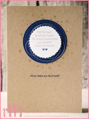 Stampin' Up! rosa Mädchen Kulmbach: Hochzeitskarten mit Viel-schichtig und Stickmuster