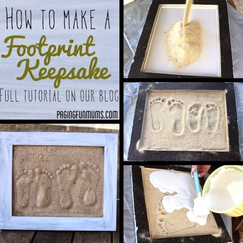 footprints in sand art tutorial