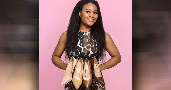 Jeneba Barrie, founder of her own line of luxury skintone footwear