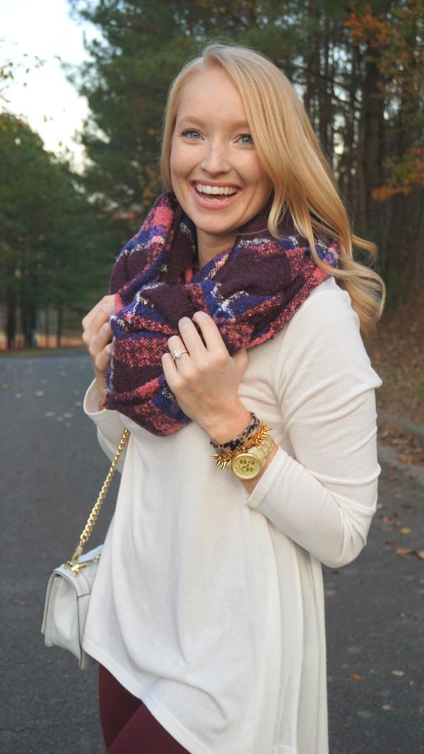 blanket scarf, strawberry chic, fall fashion
