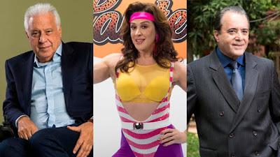 Antonio Fagundes (o Alberto de Bom Sucesso), Claudia Raia (a Lidiane de Verão 90) e Tony Ramos, o Olavo de O Sétimo Guardião!