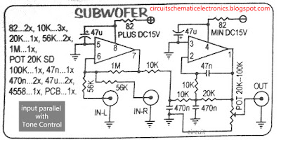 Subwoofer Module Amplifier Circuit Diagram