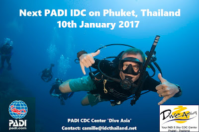 Next PADI IDC on Phuket, Thailand starts 10th January, 2017