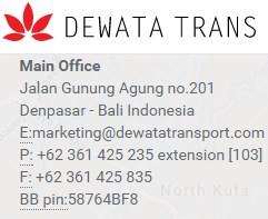 Bursa Kerja Bali Terbaru di PT. Dewata Transport September 2016