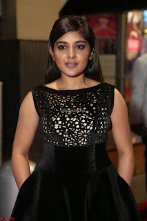 Niveda Thomas Black Sleeveless Cute Dress at 64th Jio Filmfare Awards South 2017 ~  Exclusive 059.JPG