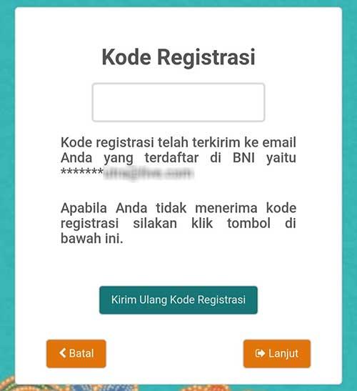 Kode Registrasi