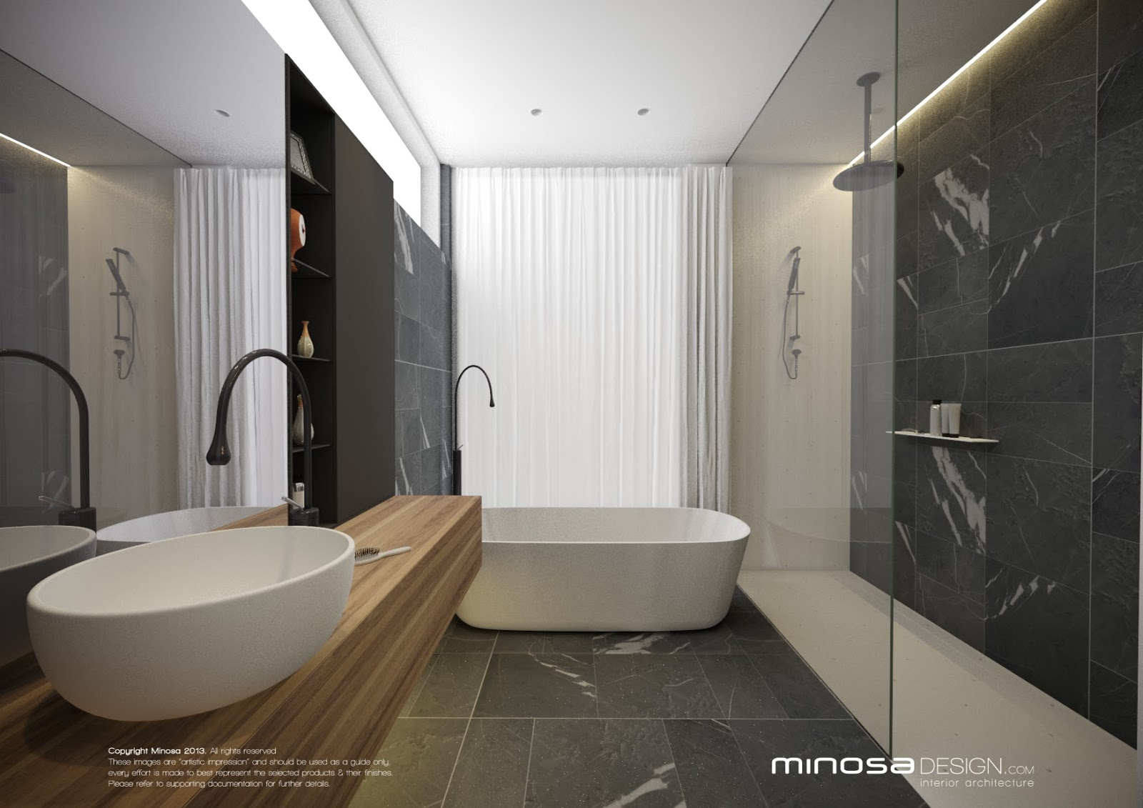 Minosa modern bathroom design to share for Bathroom planner mitre 10