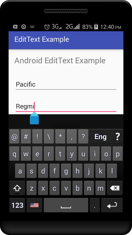 Android EditText Example