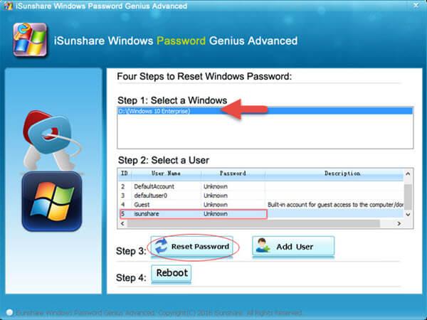 dell laptop password reset windows 10