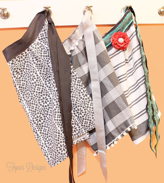 Dishtowel turned apron DIY gift idea