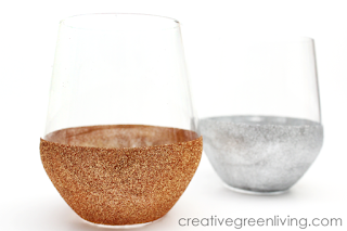 How to glitter wine glasses