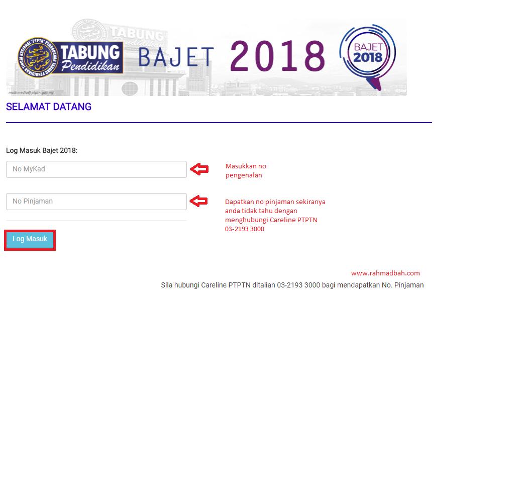 Bajet 2018 Ptptn Diskaun 20%