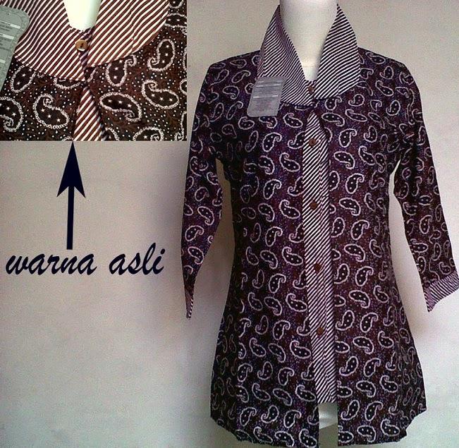 Model Baju Batik Kerja Untuk Tubuh Gemuk: Aneka Pilihan Model Baju Batik Kantor Lengkap