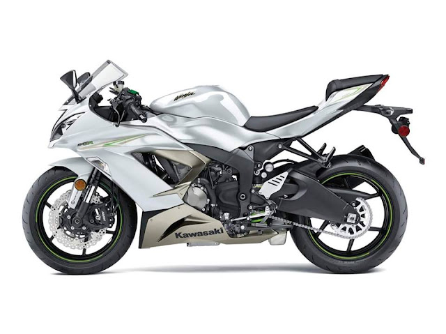 2017 Kawasaki ZX-6R 636 Pear Blizzard White / Metallic Gray
