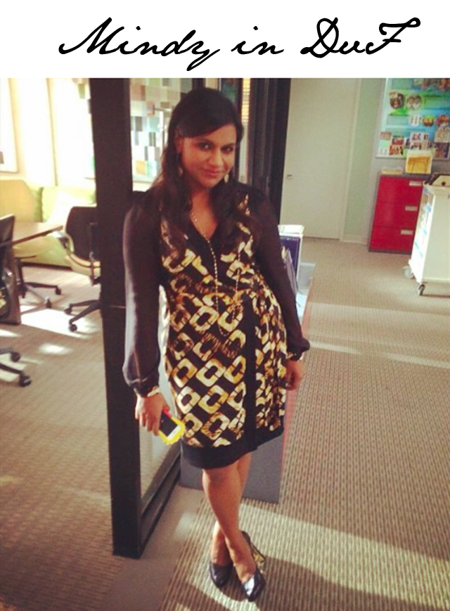 Mindy Kaling Diane von Furstenberg Wrap Dress