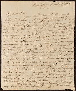 The first page of a handwritten letter.