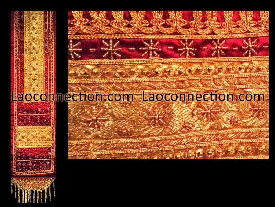 Traditional Lao women's clothing - pa bieng, Lao scarf