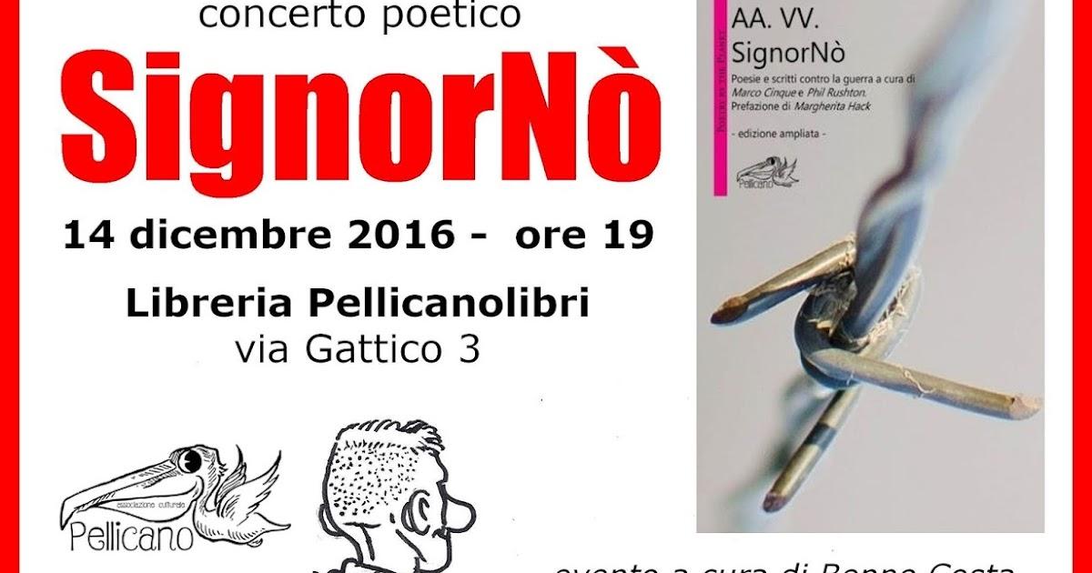 Concerto poetico per SignorNò e iniziative a favore di Fernando Eros Caro