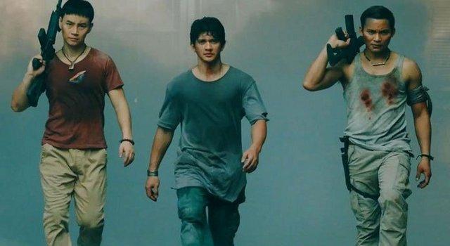 aksi iko uwais, Tony Jaa dan Tiger Chen dalam film Triple Threat